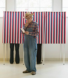 confused guy votes