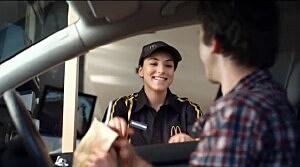 Girl works drive thru@ McDonalds