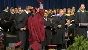 Raising diploma picture