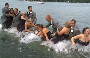 Wedding-party-falls-in-lake