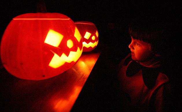Children Enjoy Traditional Halloween Pumpkins