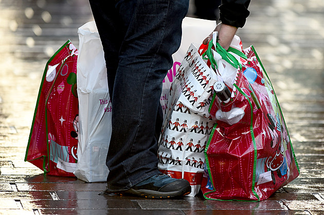 Christmas Shoppers Hit The High Streets Across the UK