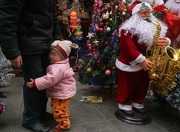 China Prepares For Christmas Holiday