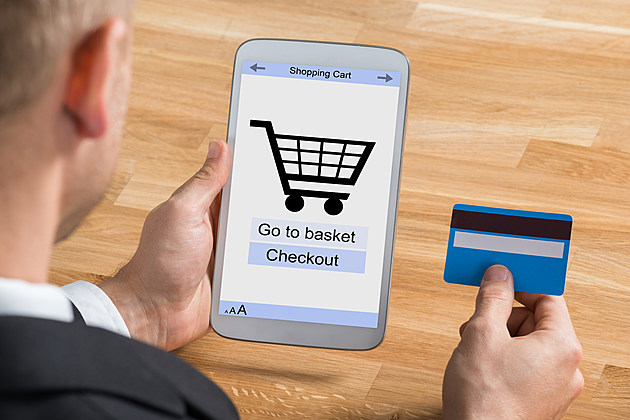Businessman Shopping Online With Digital Tablet