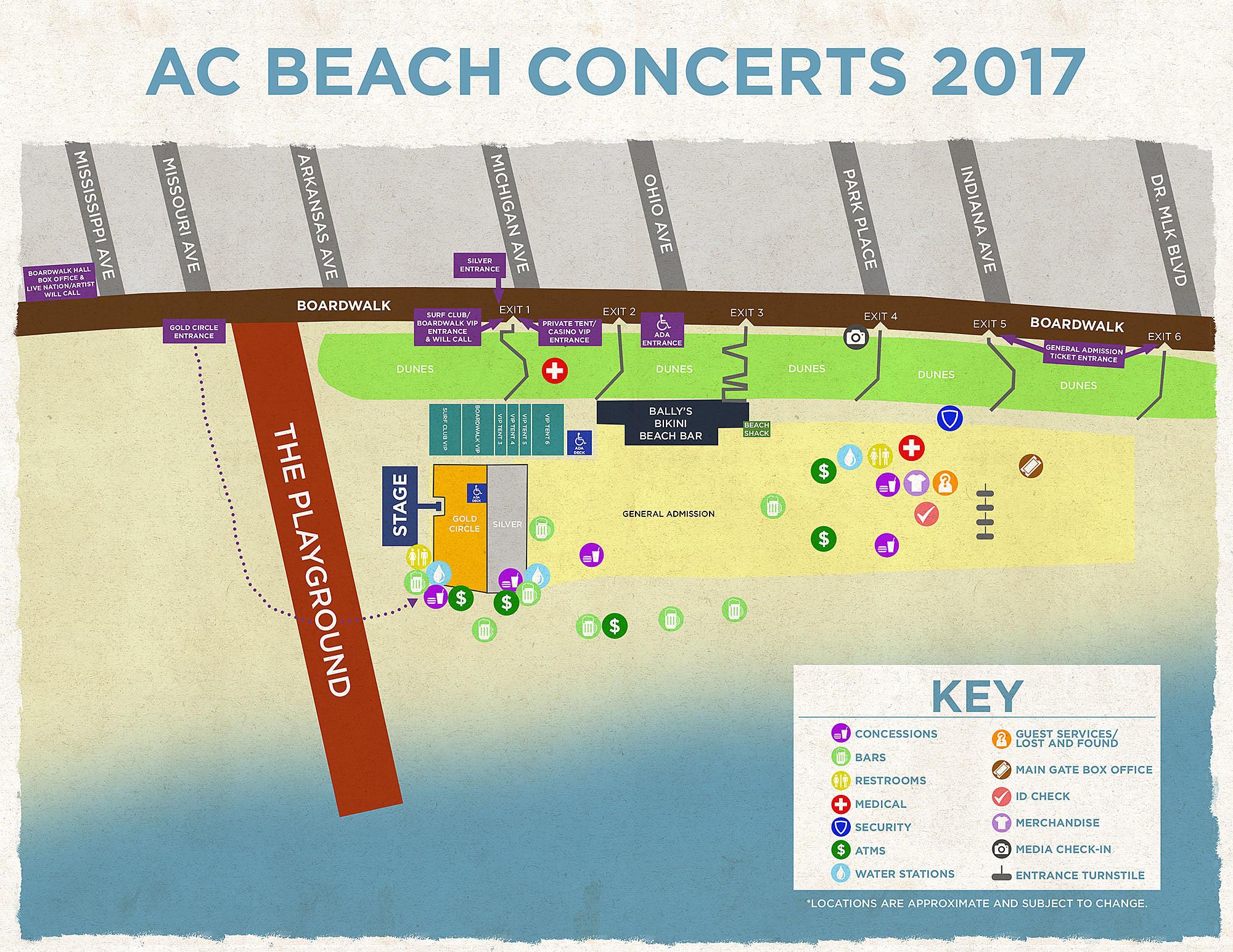 AC Beach Concert Map 2017