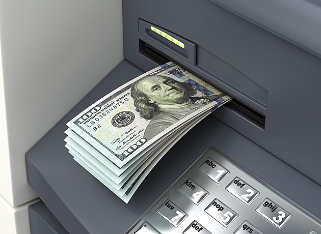 Dollars from ATM