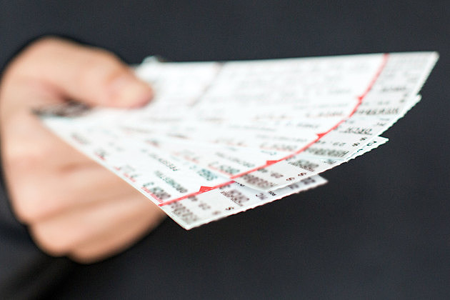 Tickets in hand