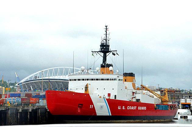 U.S. Coast Guard ship in Seattle
